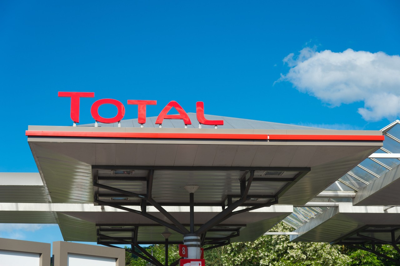 L'auvent de la station-service de Rosport au Luxembourg, portant l'enseigne Total. (Photo: Charles Caratini pour Total)