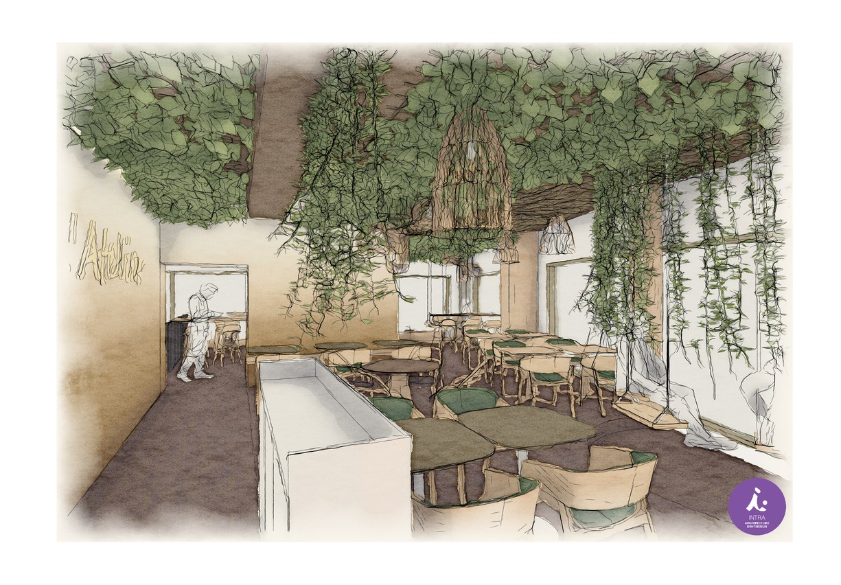 The atmosphere of the future L'Atelier Steffen at Royal-Hamilius is expected to be green, artsy and airy. Steffen Group