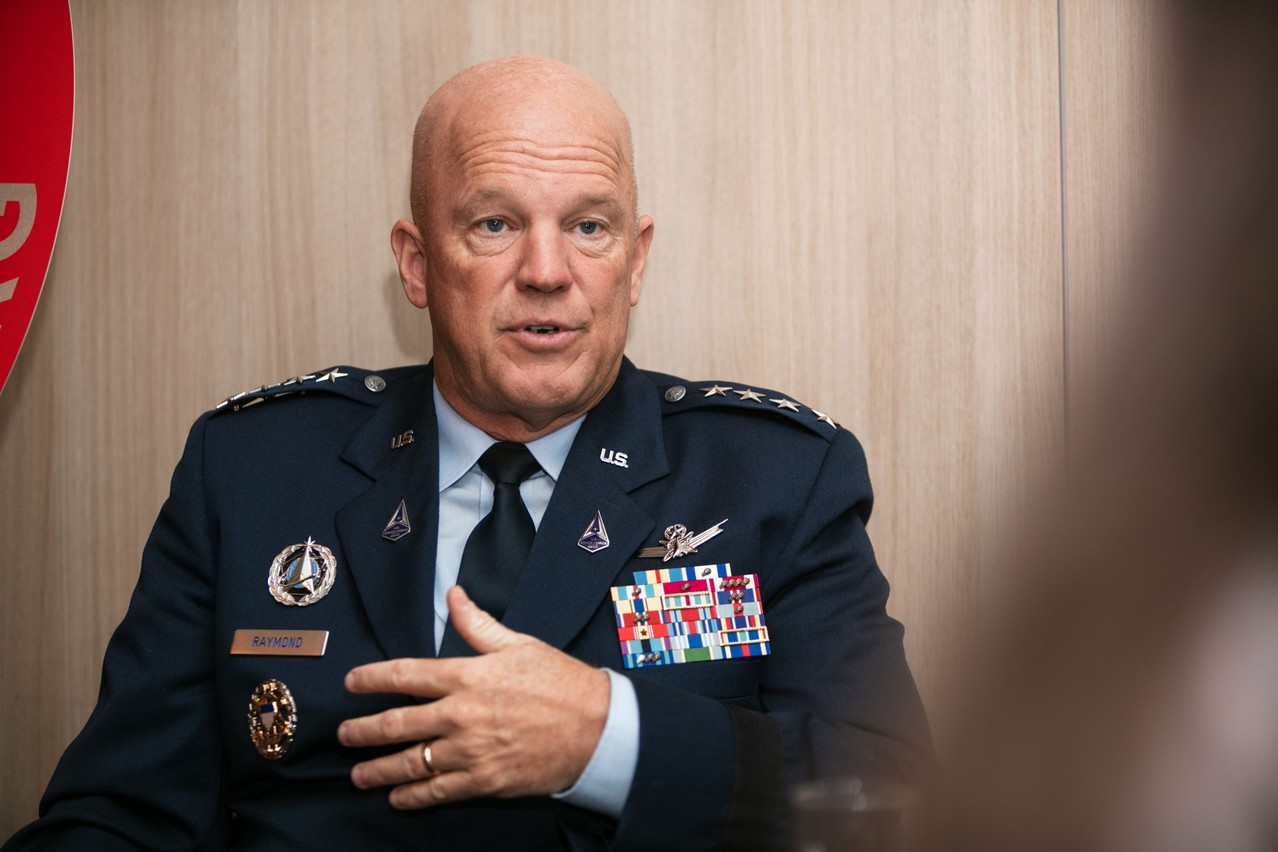 """General John William """"Jay"""" Raymond, pictured during his visit to Luxembourg on 21 July Romain Gamba / Maison Moderne"""