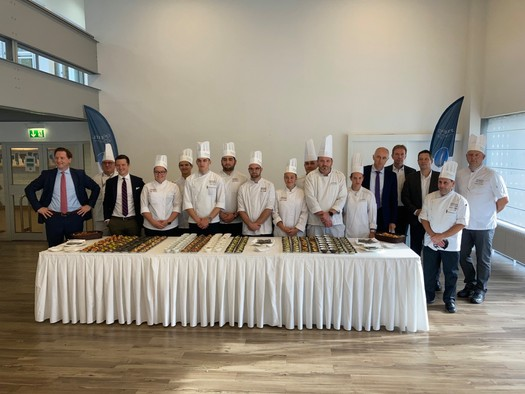 The new menus were presented this Thursday in Diekirch by students, teachers and Luxair teams.  (Photo: Maison Moderne)