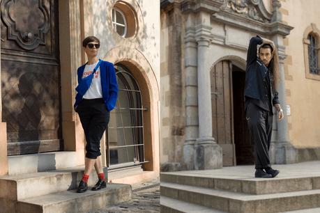 Hélène Walland et Leonardo Black nous proposent un style noir et bleu. (Photo: Geoffrey Masure)