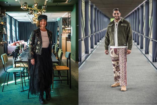 Carole Miltgen et Shafik Dridi nous présentent un look imprimé. (Photos: Mike Zenari)