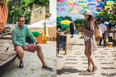 Marc Grandjean &Vanessa Berghman nous présentent un look plage. (Photo: Mike Zenari)