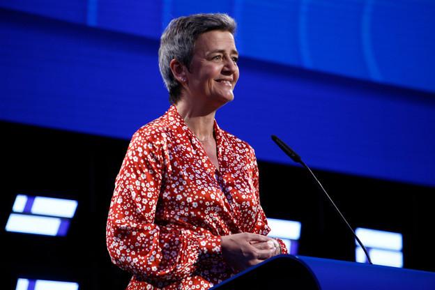 La DanoiseMargrethe Vestager(51 ans) – ici lors de la soirée électorale de dimanche à Bruxelles – est citée parmi les potentiels successeurs de Jean-Claude Juncker à la présidence de la Commission européenne. (Photo: Shutterstock)