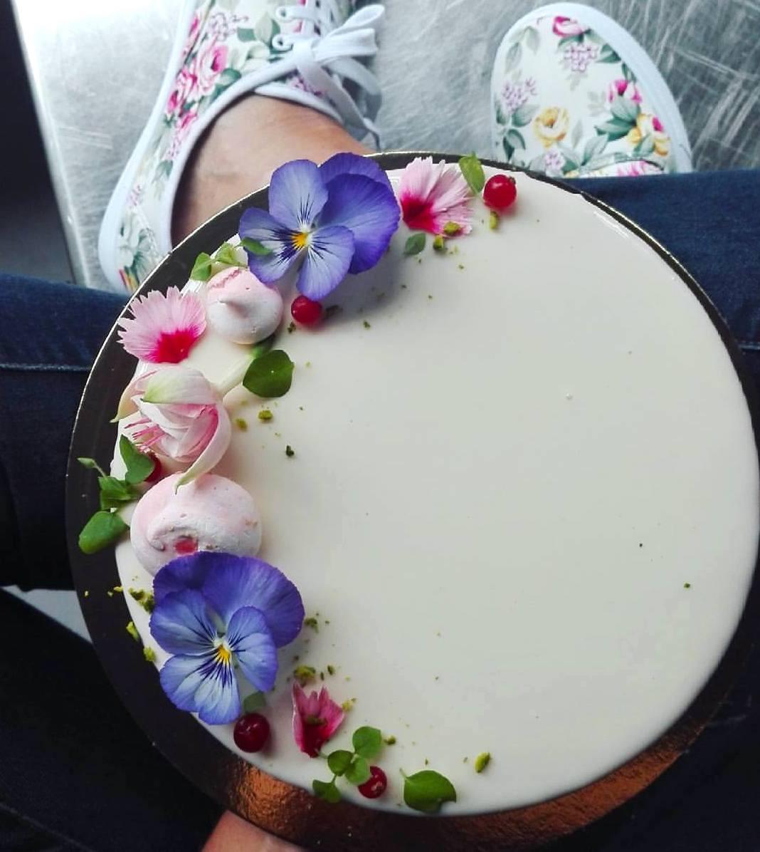 Un exemple d'entremets floral proposé par Cokoa à Bruxelles. (Photo: Cokoa)