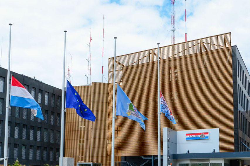 Le siège de la police grand-ducale va doubler de superficie, après l'adoption à l'unanimité du projet de loi autorisant l'acquisition par l'État d'un bâtiment jouxtant celui existant.  (Photo: Police grand-ducale)