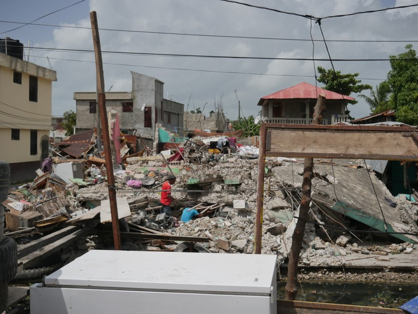 Destruction scene in the city of Les Cayes, located south west of Haiti and among the regions the most affected by the earthquake on 14 August . Rawley Crews / HI