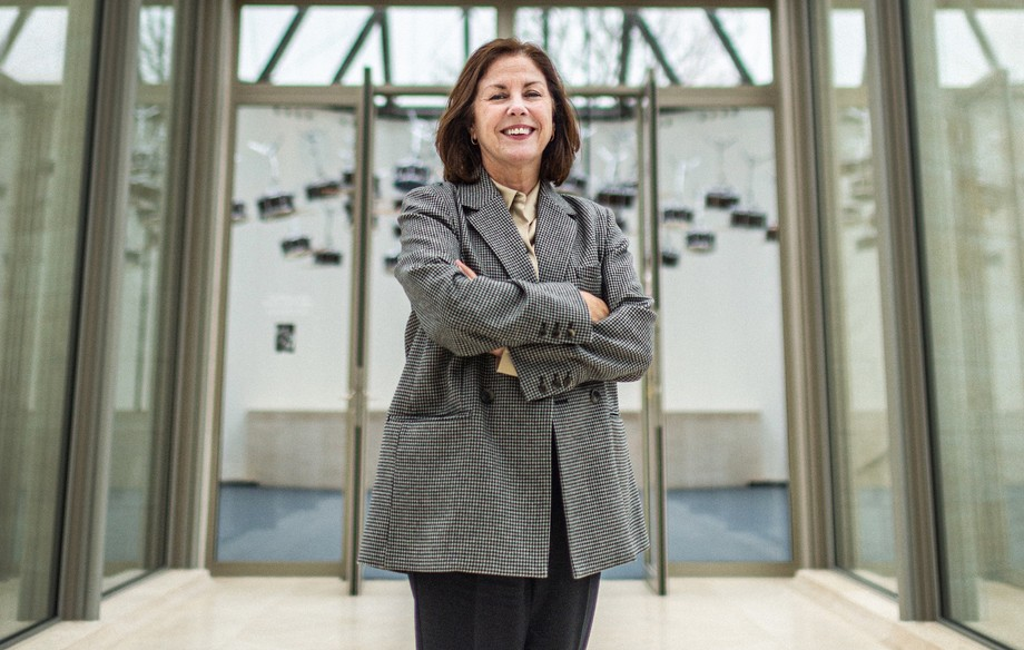 Suzanne Cotter, pictured at Mudam in December 2019, is stepping down at the end of the year after close to four years at the helm of Luxembourg's leading modern art museum. Photo Mike Zenari / archives