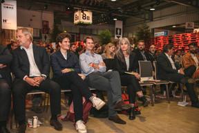 Marc Giorgetti (Félix Giorgetti), Max Lenners (Insolvo), Antoine Paccoud (Liser) et Sara Noel Costa de Araujo (SNCDA) ((Photo: Romain Gamba, Maison Moderne))