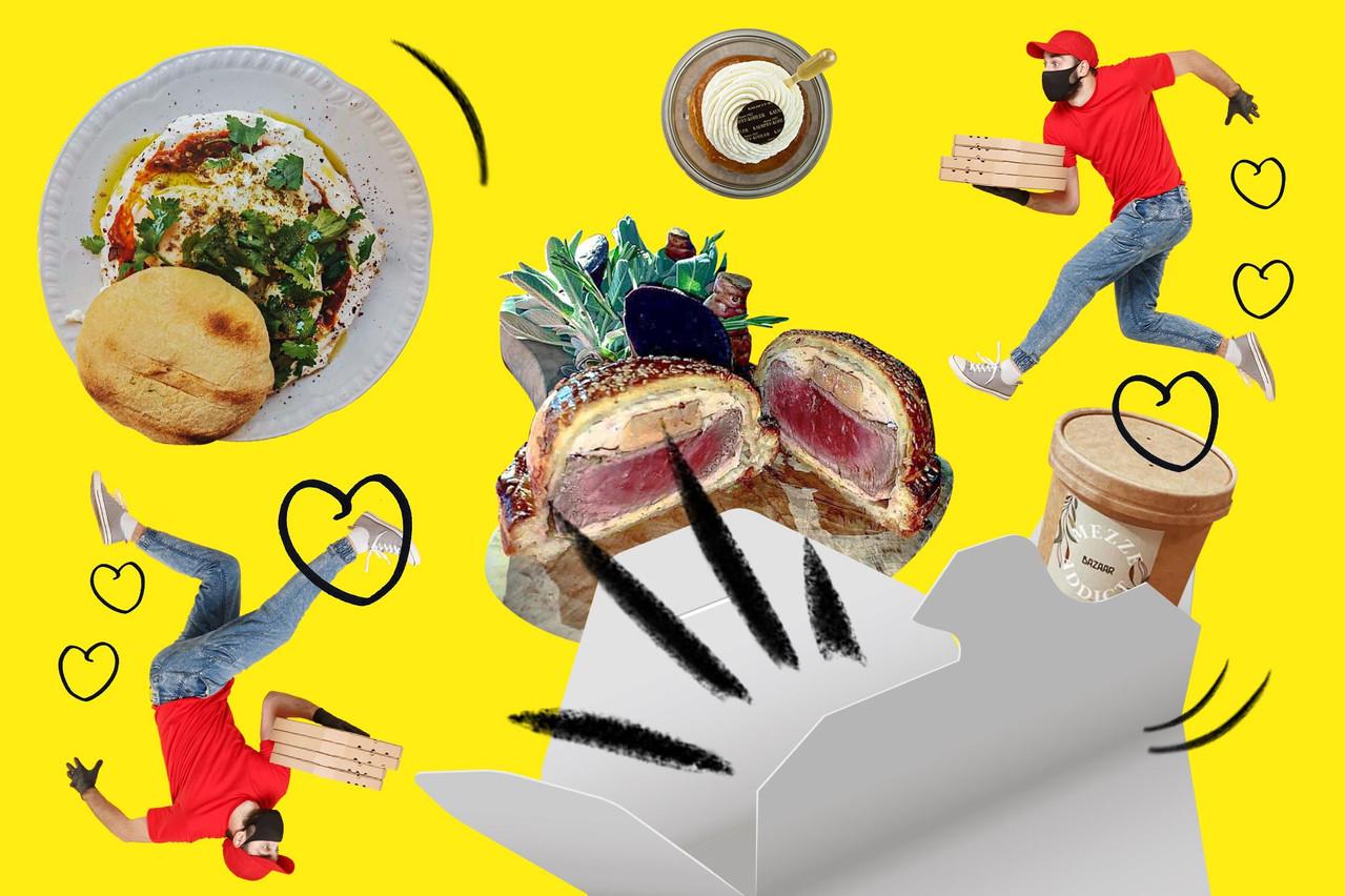 Livraison et/ou take-away: les restaurateurs luxembourgeois adaptent autant que possible leur activité une seconde fois en 2020… (Design: Sascha Timplan/Maison Moderne)