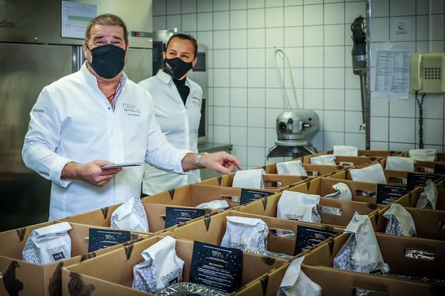 Les ambassadeurs Food-a-Mental se sont à nouveau réunis pour proposer, ce week-end, une box gastronomique surprise en take-away. (Photo: Mickael Williquet)