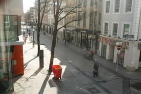 Le premier étage de la future brasserie bénéficiera d'un panorama imprenable sur la Grand-Rue et la place d'Armes. (Matic Zorman / Maison Moderne)