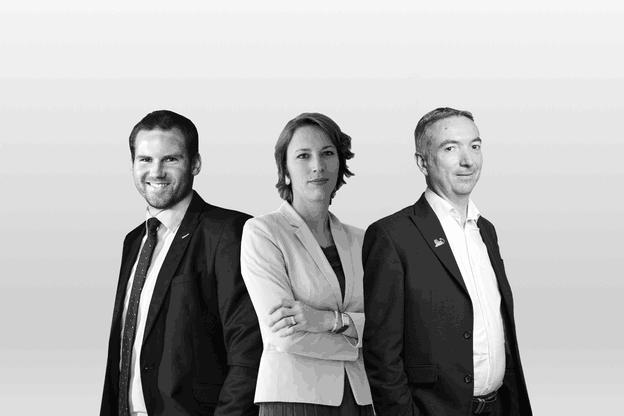 Alexandre Gauthy,Lauréline Renaud-Châtelain etJean-Yves Leborgne. (Photo: Lucie Deluz, Edouard Olszewski et Patricia Pitsch / Maison Moderne)