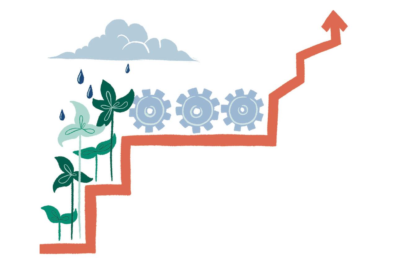 La finance durable est l'un des principaux leviers que veut utiliser l'Union européenne pour parvenir à la neutralité carbone à l'horizon2050. (Illustration: Salomé Jottreau)
