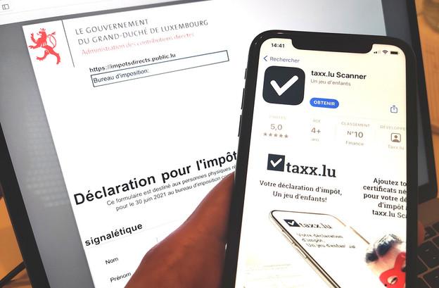 Taxx.lu a ajouté un scanner pour faciliter la prise en compte de documents externes lors des déclarations fiscales réalisées via sa solution. (Illustration: Maison Moderne)