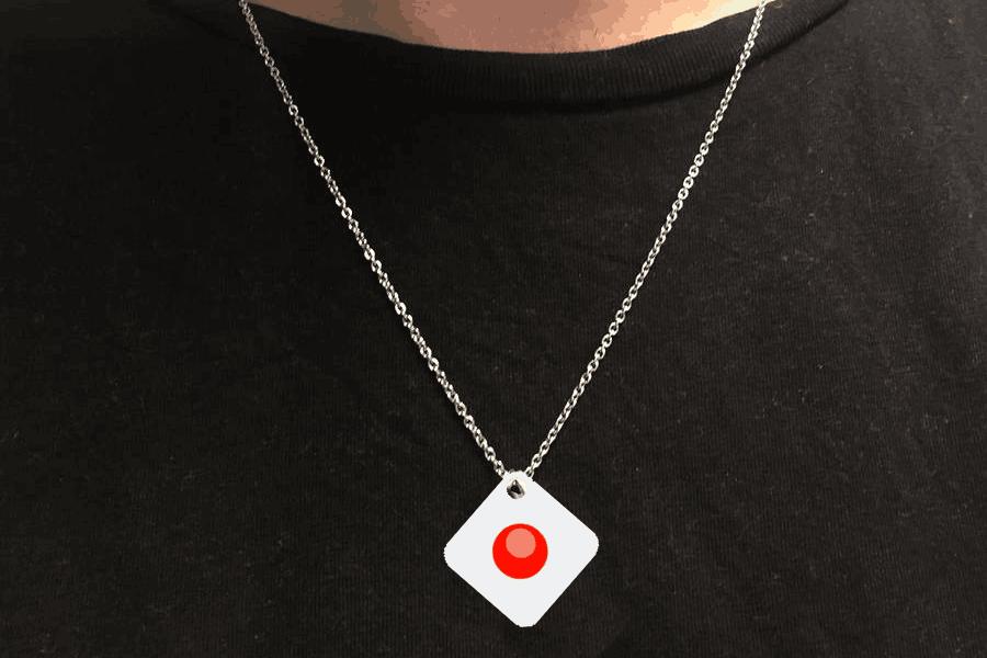 Le «rouge» assorti d'un deuxième bip est une invitation à prendre de la distance. (Photo: Technology Partner)