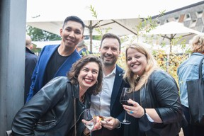 Namkhai Narankhuu of ING Luxembourg, Manon Loison of the Luxembourg House of Financial Technology, and Christophe Rahier and Laura Morgano from ING Simon Verjus/Maison Moderne