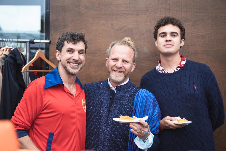 Laurent Balon-Barchon  from  Le Jardin de France (centre), Javier Bosch (on right). Simon Verjus/Maison Moderne