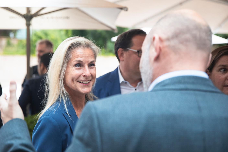 Simône van Schouwenburg ofthe Spuerkeess is seen at Delano's 10th anniversary party, 13 July 2021. Simon Verjus/Maison Moderne