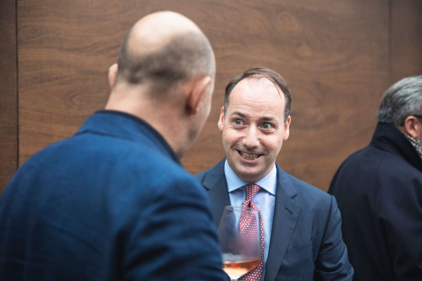 Enrique Sacau of Kneip is pictured at Delano's 10th anniversary party, 13 July 2021. Simon Verjus/Maison Moderne