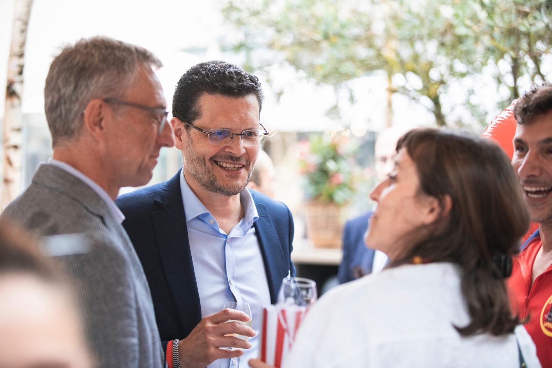 Dr Marc Lemmer from the CNPD (left), Adel Nabhan from Degroof Petercam. Simon Verjus/Maison Moderne