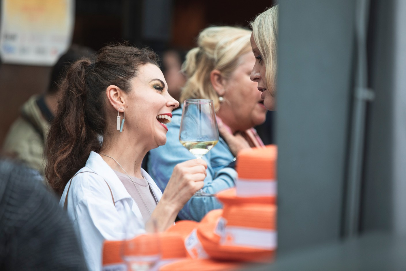 Lisa Burke with RTL is seen at Delano's 10th anniversary party, 13 July 2021. Simon Verjus/Maison Moderne