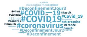 Les hashtags en vogue en français depuis 24 heures. ((Crédit: Talkwalker))