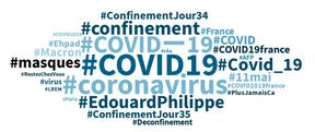 Les hashtags en vogue en français depuis les 24dernières heures. ((Photo: Capture d'écran/Talkwalker))