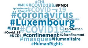 Les hashtags en vogue dans les conversations en français au Luxembourg, depuis 24heures. ((Photo: Capture d'écran/Talkwalker))