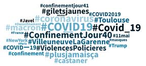 Les hashtags en vogue en français durant les 24 dernières heures. ((Illustration: Talkwalker))