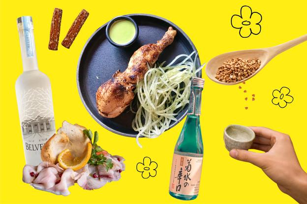 Du sarrasin, des salsifis, de saké, de la vodka et des bons petits plats, même au bar : voilà ce qui attend les gourmands en 2020 (Design: Maison Moderne)