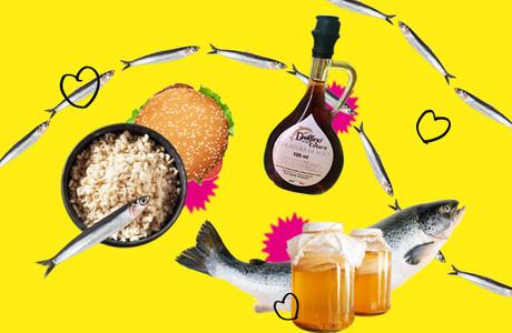 Koji, garum, truite, brochet, kombucha, smash burger… Autant de mystérieuses tendances food à découvrir d'ici la rentrée! (Design: Eva Pontini/Maison Moderne)