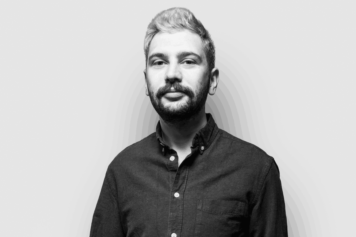 Teodor Georgiev previously worked as a newsreader and podcaster at Radio Ara, and recently joined the Delano team. (Photo: Simon Verjus/Maison Moderne)