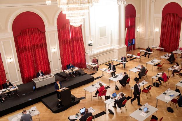 Tous ceux qui ont mis un pied dans la salle de séance plénière entre mardi et jeudi de la semaine dernière ont été invités à se faire tester. (Photo: Matic Zorman/Maison Moderne/Archives)