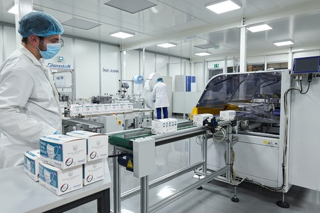 La nouvelle ligne de production, qui gérera les flux en fonction des besoins, peut produire jusqu'à 20millions de masques par an. (Photo: Textilcord)