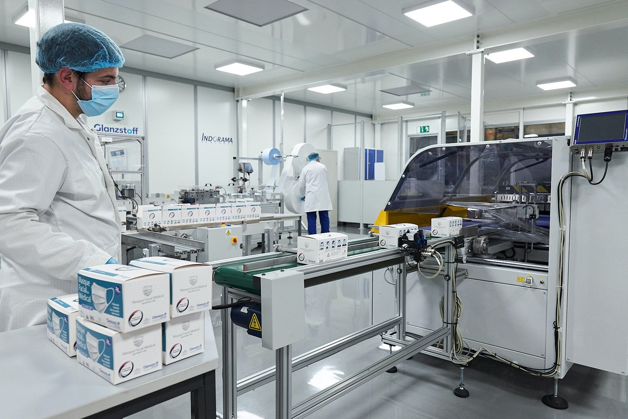 The new production line, which will manage flows according to needs, can produce up to 20 million masks per year. Photo: Textilcord