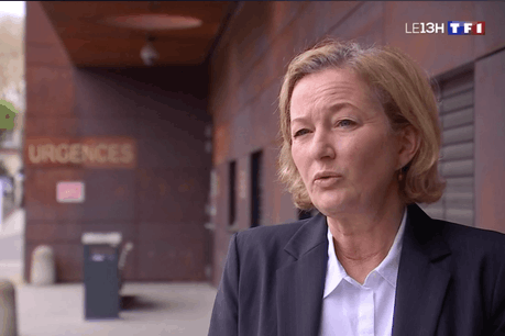 Paulette Lenert, ministre de la Santé (LSAP), interviewée par TF1. (Photo: Capture d'écran/TF1)