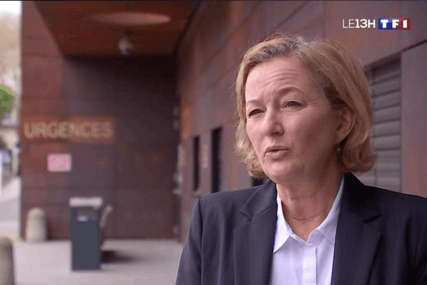 Paulette Lenert, ministre de la Santé (LSAP), interviewée par TF1. (Photo: Capture d'écran/TF1)