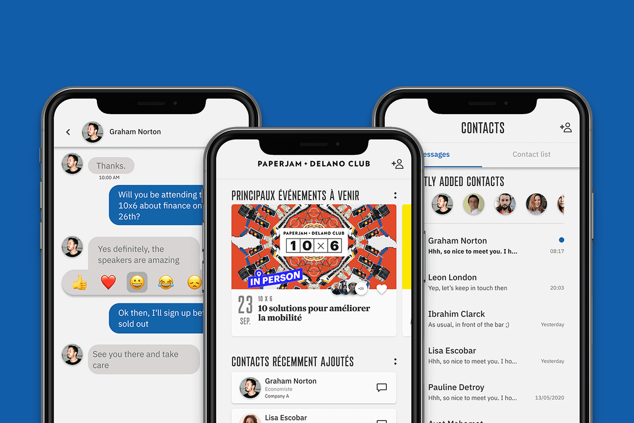 The Paperjam + Delano Club app (available for iOS and Android) is a practical digital tool enabling members to take full advantage of Club benefits. (Photo: Maison Moderne)