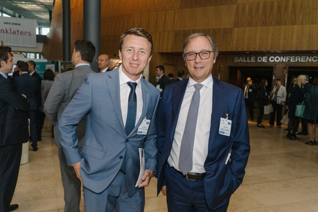 À gauche,Steve Bernat founding partner chezOne Group Solutions. (Photo: Archives Paperjam)