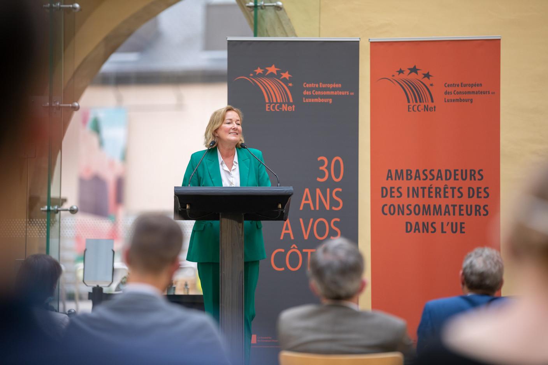 Paulette Lenert, minister for consumer protection (Photo: Romain Gamba/Maison Moderne)