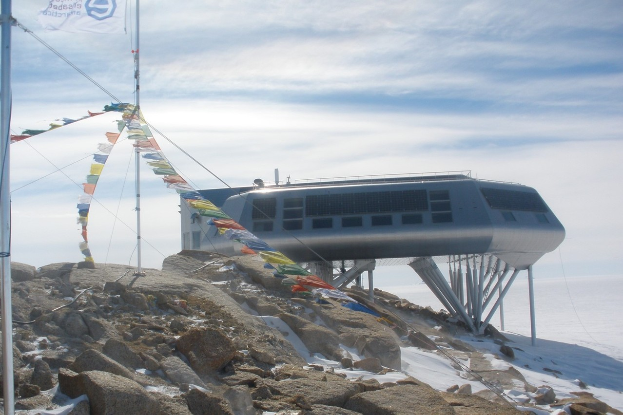The Belgian station has the best food of any research station in Antarctica, said the Belgian researcher. Photo: Olivier Francis