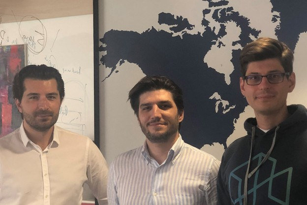 Semin Ibisevic (CTO), Davide Martucci (CEO), Aleksandar Pramov, PhD (Chief Data Scientist)  ont lancé fSight cet été après trois ans de développement. (Photo: Next Gate Tech)