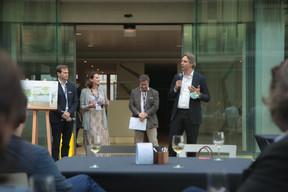 Ignace de Haut de Sigy (Tétris Design & Build), Angélique Sabron (Jones Lang Lasalle Luxembourg), Pierre Joppart (Jones Lang Lasalle Luxembourg) et Eric Gerner (H2O) ((Photo: Matic Zorman/Maison Moderne))