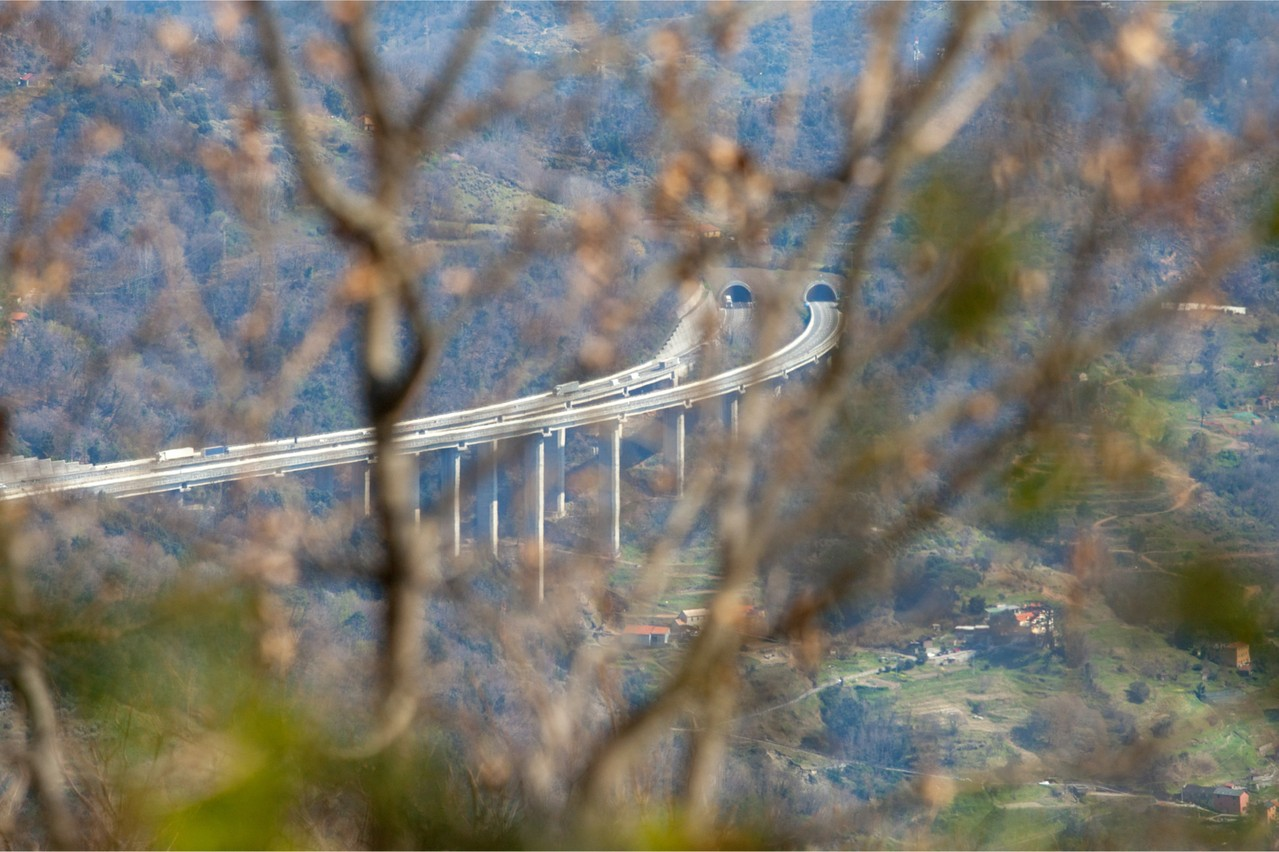 Italy's motorways--here, the Autostrada dei Fiori from the heights of Genoa towards Ventimiglia--helped set Luxembourg's financial sector on the road to success Photo: Shutterstock
