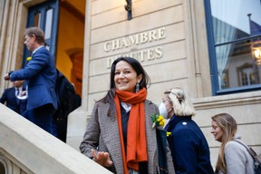 The deputy Semiray Ahmedova (déi Gréng). (Photo: Romain Gamba/Maison Moderne)