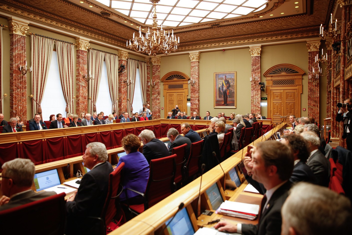 Deputies and the government met on Tuesday 12 October. (Photo: Romain Gamba/Maison Moderne)