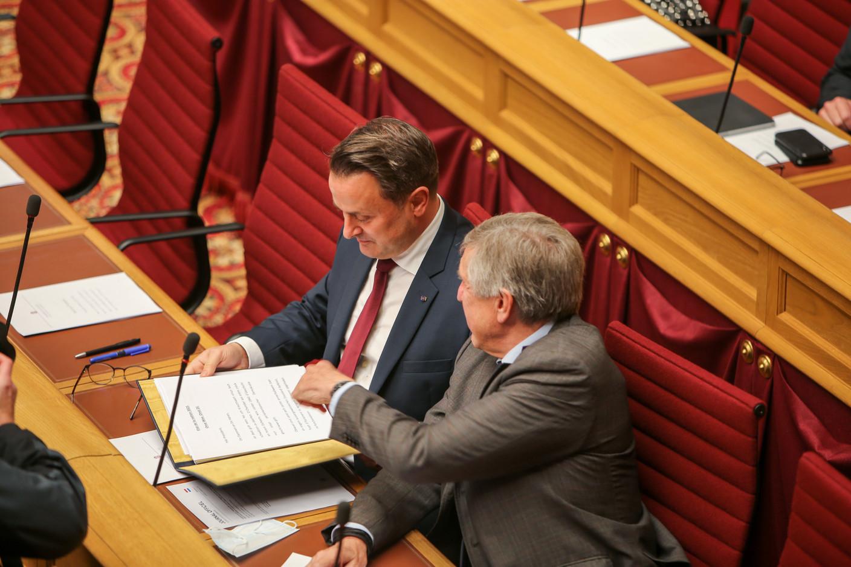 Xavier Bettel and deputy prime minister François Bausch (déi Gréng). (Photo: Romain Gamba/Maison Moderne)