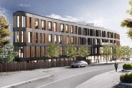 The Ultimate Building est développé à Bonnevoie et sera livré début2022. (Illustration: iPlan by Marc Gubbini Architectes)