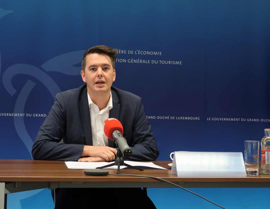 Lex Delles, pictured during a July 2021 press conference Photo: MECO